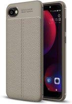 HTC Desire 12 Soft Design TPU Case - Grijs