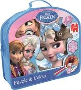 Disney Frozen Puzzel & Kleurplaat - Kinderpuzzel