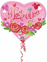 Multi-Balloon I Love You Garland Foil Balloon P45 packed 55 x 50cm