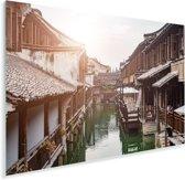 Schitterende wijk midden in Suzhou Plexiglas 90x60 cm - Foto print op Glas (Plexiglas wanddecoratie)