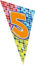 5 Jaar Megavlag Birthday Blocks 90x150cm