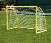 Voetbalgoal - 183 x 122 x 92 cm - PVC - voetbal doel - incl. net en ankers - 5 cm buizen - voetbaldoel