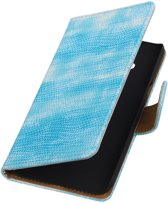 Samsung Galaxy J3 - Mini Slang Turquoise Booktype Wallet Hoesje