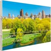Groen Central Park in NY Hout 120x80 cm - Foto print op Hout (Wanddecoratie)