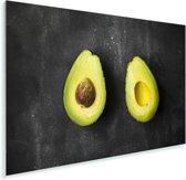 Avocado helften op een tafel Plexiglas 30x20 cm - klein - Foto print op Glas (Plexiglas wanddecoratie)