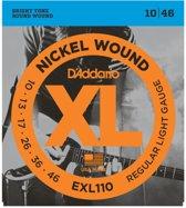 D'Addario EXL110 Elektrische Gitaarsnaren 010-046 (standaard dikte)