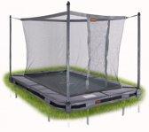 Avyna InGround trampoline PRO-LINE 215x155 (203) Grijs + Avyna Veiligheidsnet