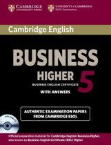 Cambridge English Business 5 - Higher Self-study pack student's book with answers + audio-cd