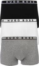 Hugo Boss Boxers Trunk 3-pack Heren - Wit-Grijs-Zwart - XL