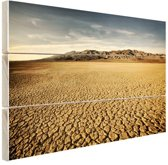 Droog woestijngebied Hout 30x20 cm - klein - Foto print op Hout (Wanddecoratie)