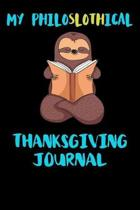 My Philoslothical Thanksgiving Journal