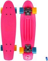 Pennyboard Penny Board Plastic Retro Skateboard - 22,5 inch - 57 cm - Skate-Plein - Roze