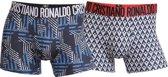 Cristiano Ronaldo 7 Trunk Microfiber  2-Pack Main Fashion Men Multicolor - Maat L
