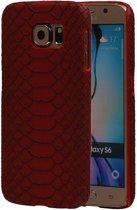 Mobieletelefoonhoesje.nl - Samsung Galaxy S6 G920F Slang Hardcase Hoesje Backcover Rood