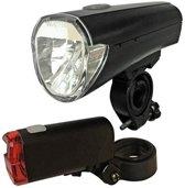 Arcas fietsverlichting set incl. 4x AA + 2x AAA batterijen