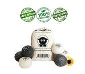 Wasdroger Ballen Wol - Wollen Droger Ballen - Herbruikbare Wasdrogerballen - Ø 7cm - Wollen Wasballen - Wool Dryer Balls - Dryerballs - Schapenwol 100% Ecologisch - Snellere Droogtijd - Set 6 Stuks XL - In Luxe Katoenen Opbergzak - 100% Nieuw-Zeeland