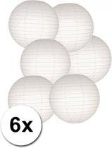 Voordelig lampionnen pakket wit 6x