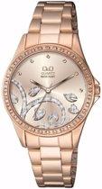 Q&Q mooi dames horloge- prachtige steentjes