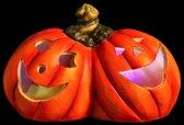 Halloween duo pompoenen LED