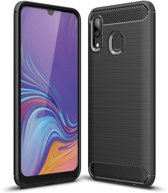 Samsung Galaxy A40 hoesje - Rugged TPU Case - zwart