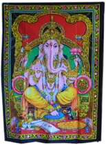 Wandkleed / muurkleed Indiase katoen met glitters – Ganesha