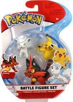 Afbeelding van Pokémon Battle Speelfiguren - Pikachu 5 cm, Alolan Vulpix 5 cm, Torracat 8 cm