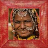 Henzo India Fotolijst - Fotomaat 30x30 cm Rood