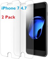 2 stuks- iPhone 7 / iPhone 8 (4.7 inch)  Glazen tempered glass / Screen protector 2.5D 9H (0.3mm)