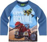 Dinotrux-T-shirt-met-lange-mouw-blauw - Maat 104