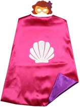 Zeemeermin - Superhelden Kostuum cape voor kinderen 3 tot 10 jaar