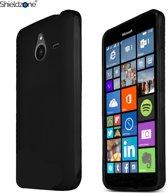 Shieldzone Siliconen Hoesje voor Microsoft Lumia 640 lte Zwart