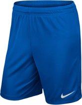 Nike Park II Knit Short Heren Sportbroek - Maat S  - Mannen - blauw