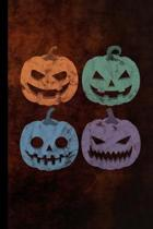 Halloween Pumpkin: Haunted Party Scary Hallows Eve All Saint's Day Celebration Gift For Celebrant And Trick Or Treat (6''x9'') Dot Grid Not