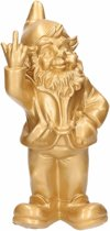 Tuinkabouter goud middelvinger 30 cm