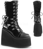 EU 42,5 = US 12 | SWING-120 | 5 1/2 PF Lace-up Mid Calf Boot, Side Zip