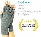 Artritis handschoenen (XL), artrose reuma compressie handschoen zonder toppen, ook voor tendinitis en carpaal tunnel syndroom maat XL (ook te verkrijgen in S/M/L)
