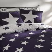 Day Dream Stars dekbedovertrek - Paars - Lits-jumeaux (240x200/220 cm + 2 slopen)