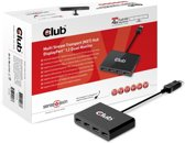 Club3D MST HUB 1 x DisplayPort 1.2 naar 4 x DisplayPort, AC Powered