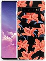 Galaxy S10 Hoesje Flowers