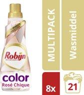 Robijn Klein & Krachtig Rosé Chique - 168 wasbeurten - 8 stuks - Wasmiddel