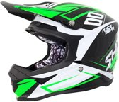 Shot Crosshelm Furious Alert Black/Green-M