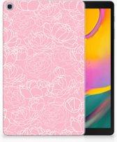 Hoesje Samsung Tab A 10.1 (2019) Design White Flowers