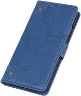 Mobigear Copper Buckle Retro Wallet Hoesje Blauw Xiaomi Mi 9