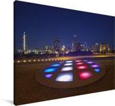 De skyline van Austin in de Verenigde Staten Canvas 180x120 cm - Foto print op Canvas schilderij (Wanddecoratie woonkamer / slaapkamer) XXL / Groot formaat!