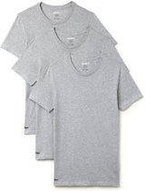 Lacoste Heren T-shirt Grijs Crew Neck Slim Fit 100% Katoen 3-Pack - XL