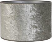 Light & Living Kap cilinder CHELSEA  35-35-30 cm  -  velours zilver