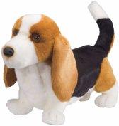Pluche Basset hond knuffel 41 cm - knuffeldier / knuffels
