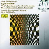 Mendelssohn: Symphonies 3 & 4 / Abbado, London SO
