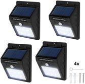 TecTake - 4* LED Solar tuinverlichting wandlamp bewegingssensor 401736