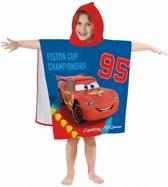 Disney Cars Circuit - Poncho / Badcape - 60 x 120 cm - Blauw
